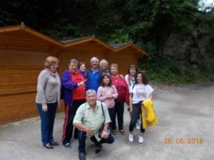 La Peștera DÂMBOVICIOARA cu un mic grup. în 26 IUNIE 2018 .